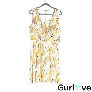 WHBM 14 Multicolor Sleeveless Midi Dress
